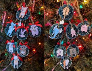 Christmas Wreaths by HoppityandBee