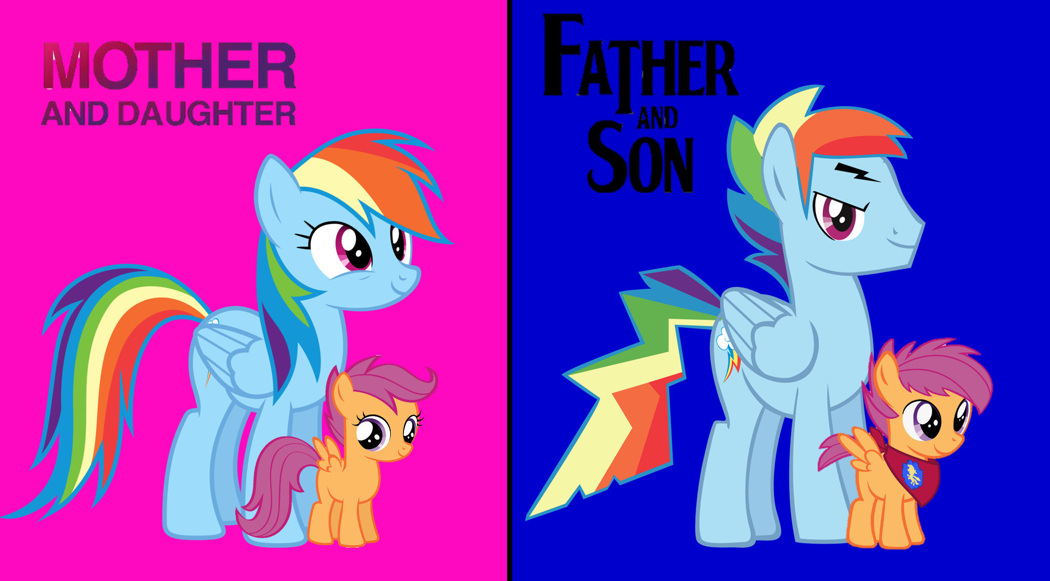 Rainbow Dash And Scootaloo Gender Swap By Darkmoonanimation On Deviantart Scootaloo is a little bit like rainbow dash, she is very competitive and athletic. rainbow dash and scootaloo gender swap