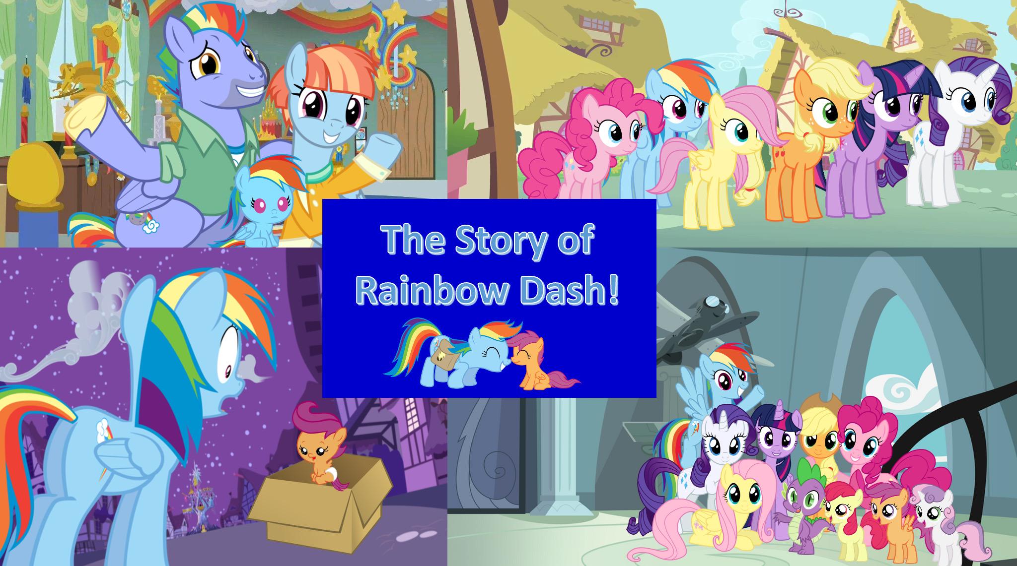 The Story Of Rainbow Dash By Darkmoonanimation On Deviantart Scootaloo wild rainbow style : the story of rainbow dash by