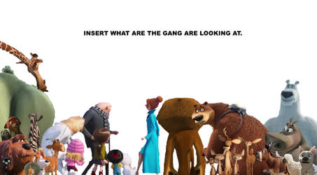 What Are The Gang Looking At Meme