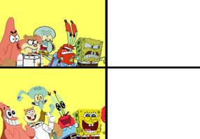 Drakememe SpongeBob style