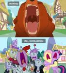 Kenai scares ponies