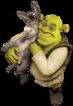 Shrek and Donkey (PNG)