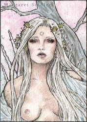 Hiver. ACEO . The season Nymphs by MargaretSeidler