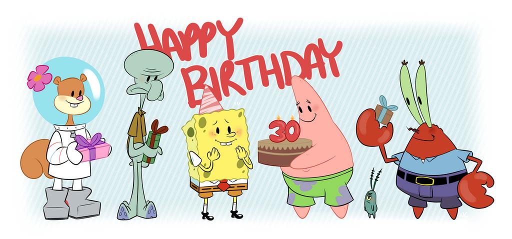 happy birthday spongebob by waackery on deviantart