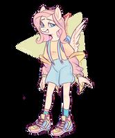 Pastel Fluttershy by Waackery