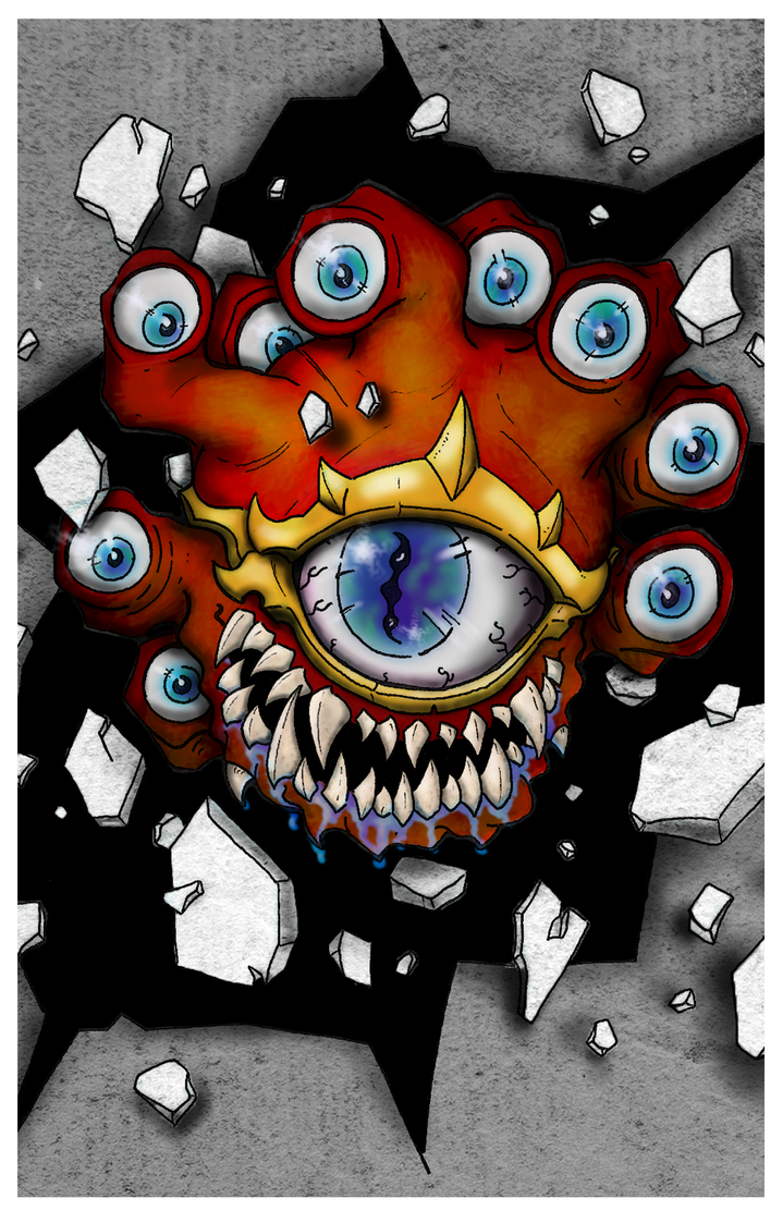 Beholder Print by Baron-Nutsnboltz