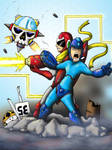 Megaman and Protoman by Baron-Nutsnboltz