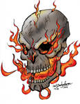 Flame Skull, Now in color