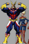 All Might and Captain Marvel 01