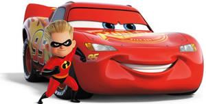 Dashiell Parr and Lightning McQueen