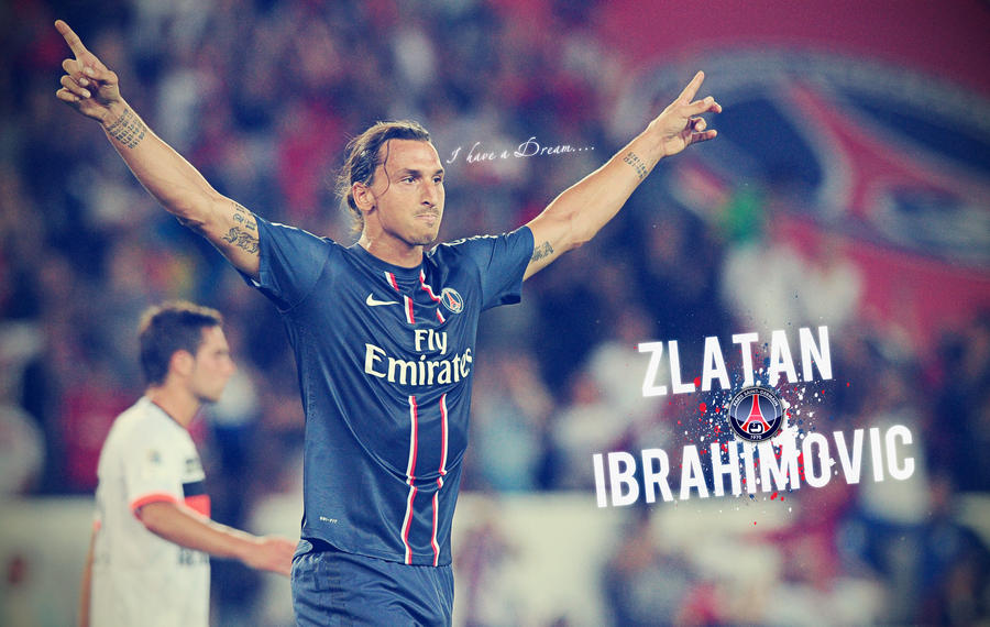Zalatan Ibrahimovic PSG Wallpaper By SentonB