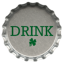 St. Patrick's Day Bottle Cap Icons4 by printplacetexas