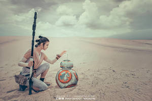 Rey Star Wars VII The Force Awakens by caaphotomagazine