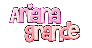 Ariana Grande Text Logo PNG by samanthaswiftie