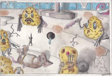 Sponge mercenaries by hans-sniekers-art