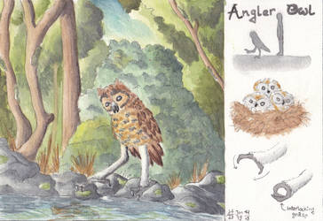 Angler Owl by hans-sniekers-art
