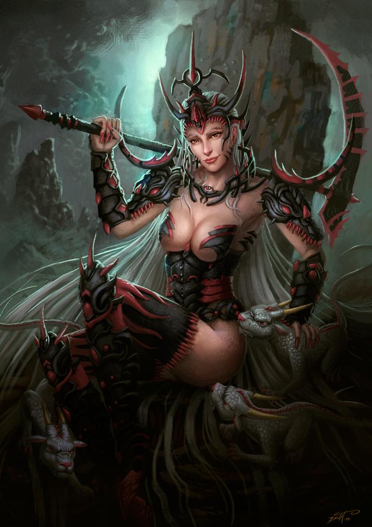 Lady Dragon by feintbellt