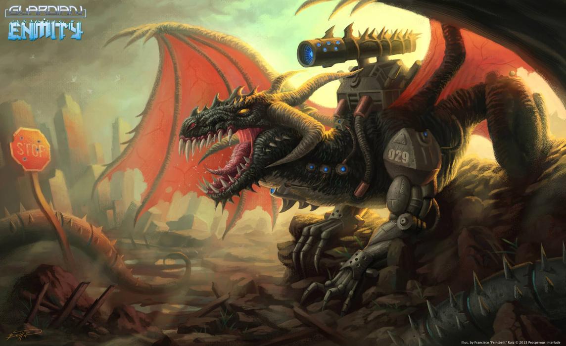 Bio-Cannon Dragon by feintbellt