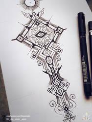 Sacred Tattoo Design by feintbellt