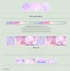 pastel galaxy custom box f2u by wolftie76