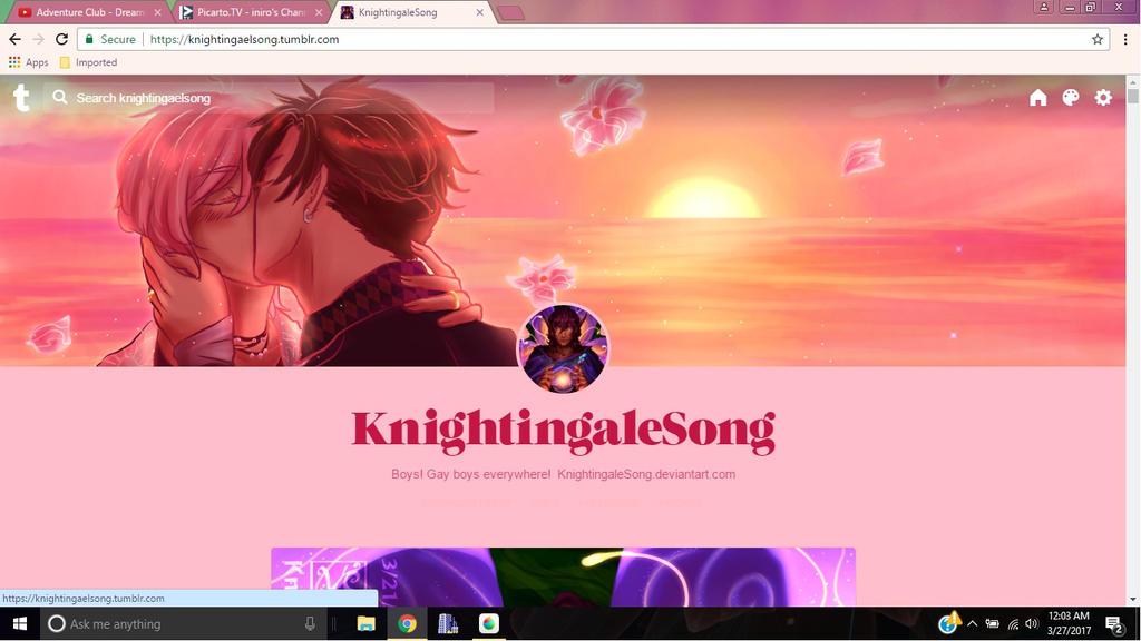 Tumblr Screenshot by KnightingaleSong