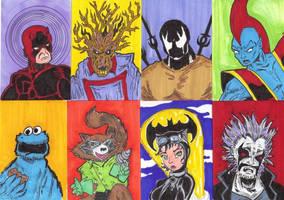 Sketch Cards 8r by mzjoe