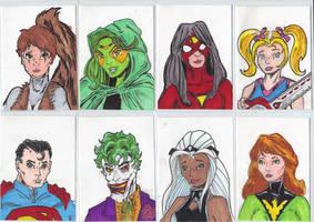 Sketch Cards 10r by mzjoe
