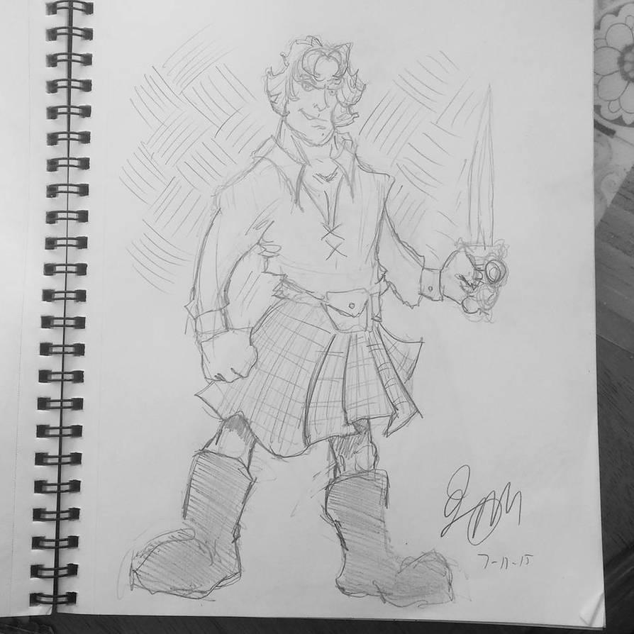 Jamie Fraser from Outlander by mzjoe