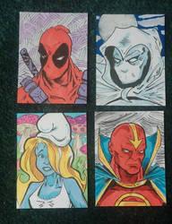 Random Sketch Cards by mzjoe