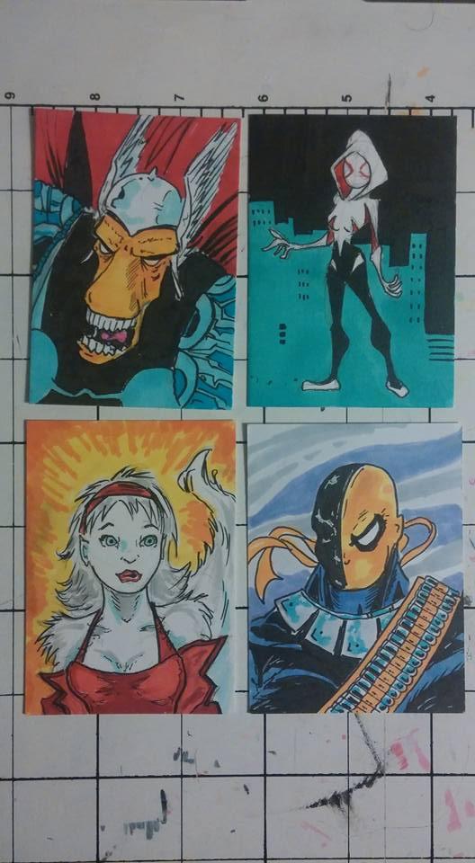 4 more random sketch cards