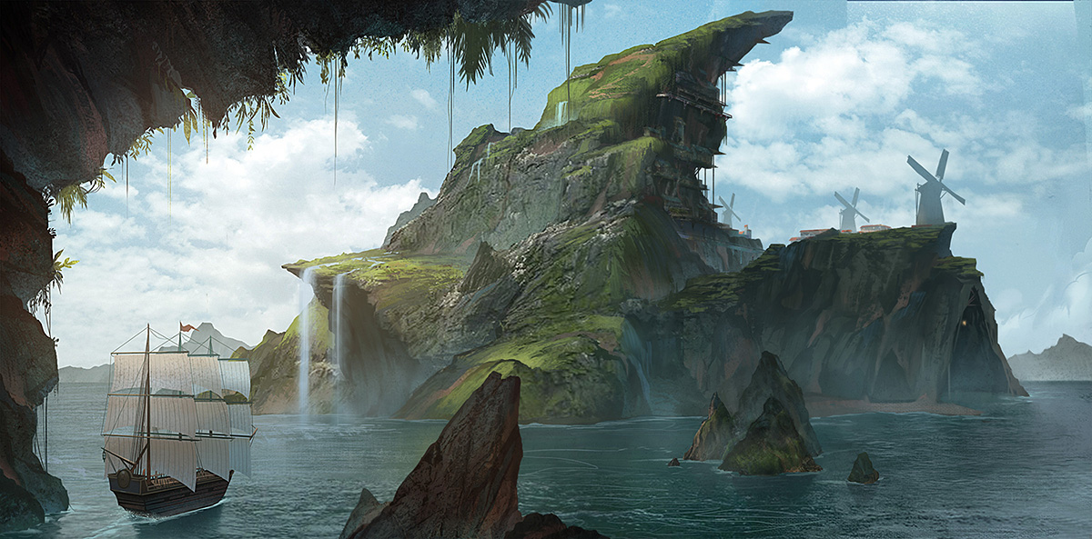 Crescent Isle by yagaminoue