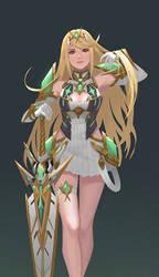 Mythra by yagaminoue