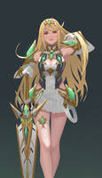 Mythra by yagaminoue