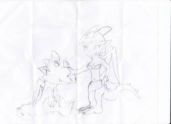 Dracnea and Drake by irodude