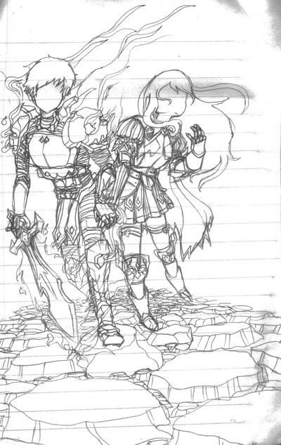 Radiata Stories Sketch by SeizureSquid