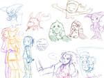 Digimon Tamers Sketches