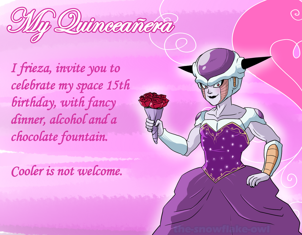 Frieza's Quinceanera invitation by Snowflake-owl