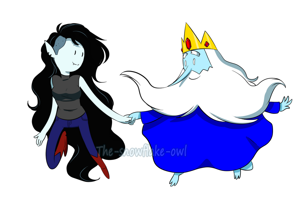 Marceline And Ice King By Snowflake Owl
