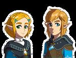 BoTW 2 Zelda Link by Snowflake-owl