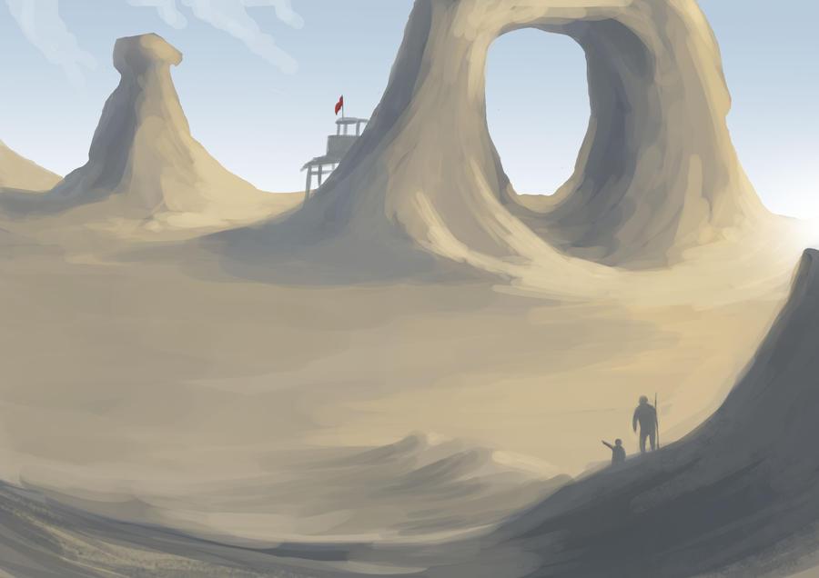 Desert Outpost by Elrohr