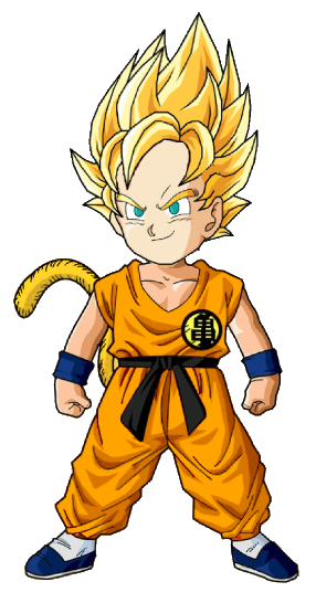 Kid Goku SSJ Better Coloring By Xxarminxx