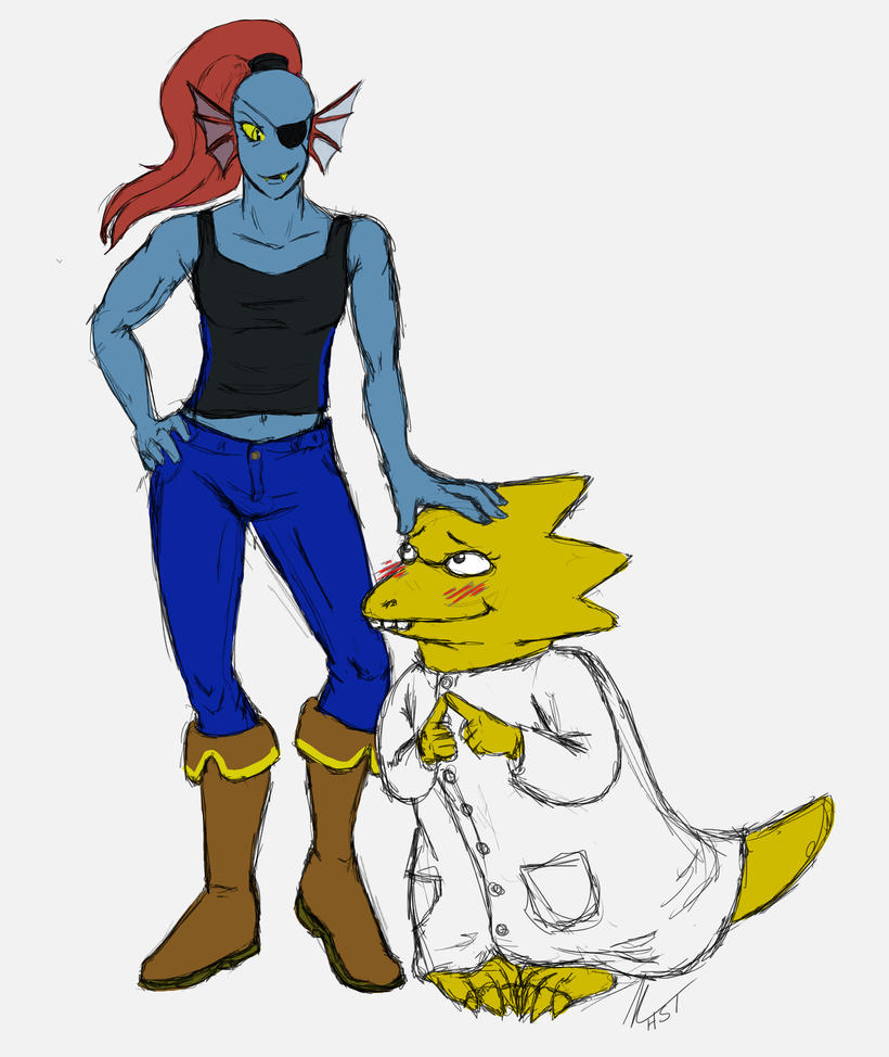 undertale alphys and undyne - photo #8