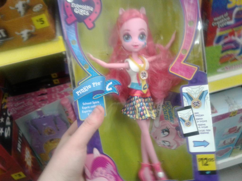 Dollar Store Pinkie Pie doll by Lexi-Fazbear