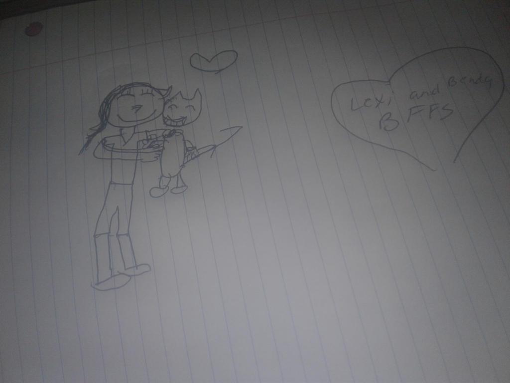 Me and Bendy  by Lexi-Fazbear