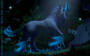 Moonlight Unicorn by The-Solista