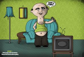 TV is Bad GREEN by GrafArtClub