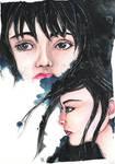 Watercolor Practice Faces