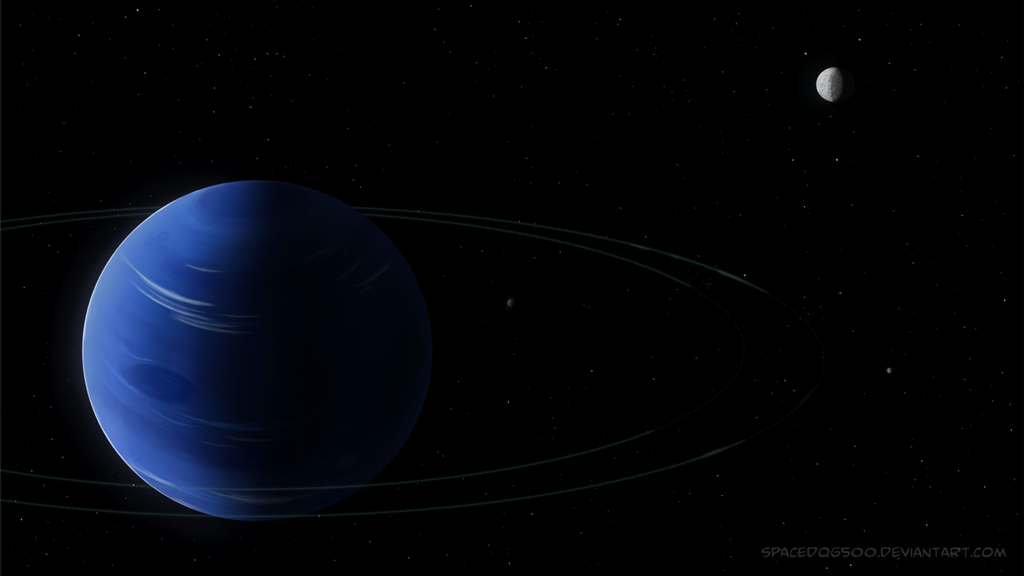 neptune with rings and moons by spacedog500 on deviantart