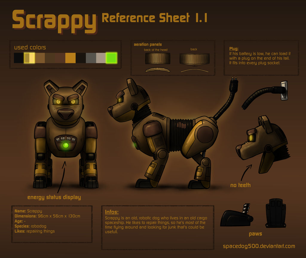 Scrappy reference sheet 1.1 (OBSOLETE) by SpaceDog500